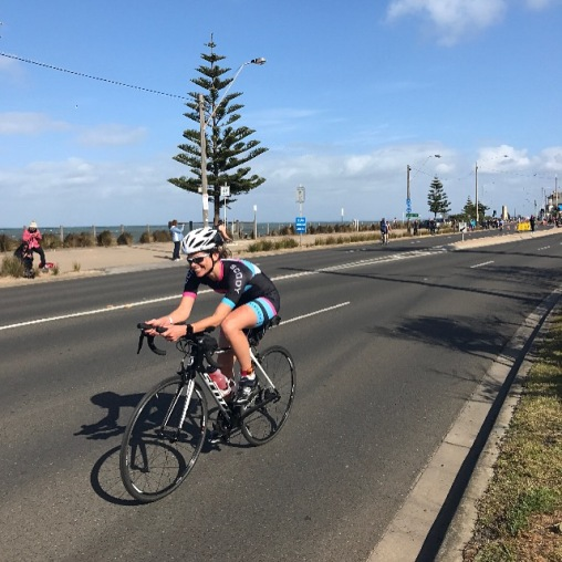 My first Tri. Melbourne Nov. '16. How's that bike positioning??!