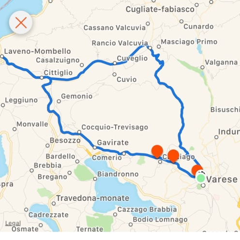 Varese & Surrounds Cycle Loop