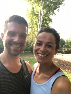 Post run smiles